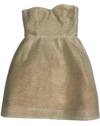 Oscar de la Renta Gold Dress - Metallic