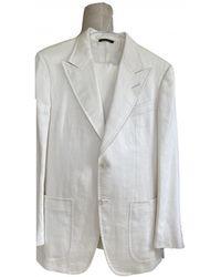 Tom Ford Linen Suit - White