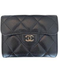 Chanel Portafoglio in pelle nero Timeless/Classique