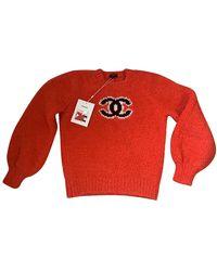Chanel Sudadera de Cachemira - Rojo