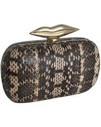 Diane von Furstenberg \n Brown Leather Clutch Bag