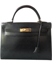 Hermès Kelly 28 Leather Bag - Black