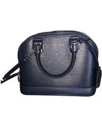 Louis Vuitton Sac à main Alma BB en cuir verni - Bleu