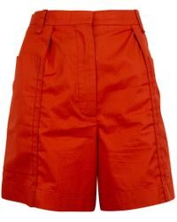 Hermès - Pre-owned Red Cotton Shorts - Lyst