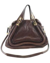 Chloé Paraty Brown Leather Handbag