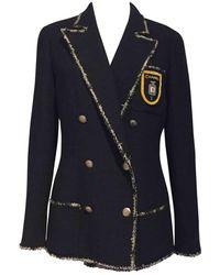Chanel Giacca in lana marina \N - Nero