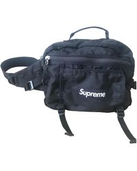 Supreme Cloth Small Bag - Black