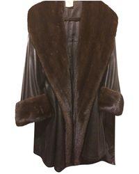 Loewe Leather Coat - Multicolour