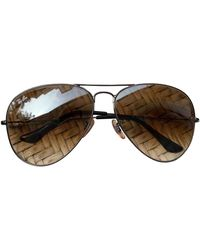 Ray-Ban Occhiali Aviator - Marrone