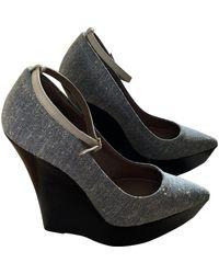 Burberry Cloth Heels - Grey
