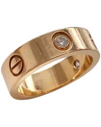 Cartier Love Gold Pink Gold Ring - Metallic