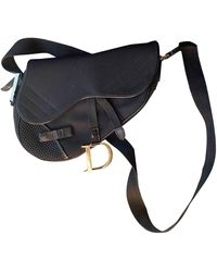 Dior Saddle Leather Handbag - Black