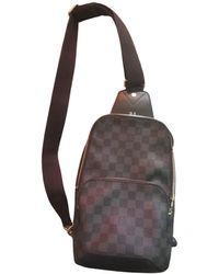 Louis Vuitton Avenue sling Leinen Taschen - Grau