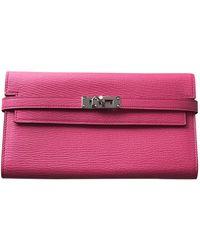Hermès Kelly Leder Portemonnaies - Pink