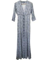 Theyskens' Theory Silk Maxi Dress - Blue