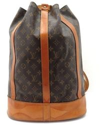 Louis Vuitton Brown Cloth Backpack