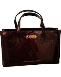Louis Vuitton Sac à main Wilshire en Cuir verni Marron