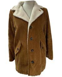 A.P.C. Camel Velvet Coat - Multicolour