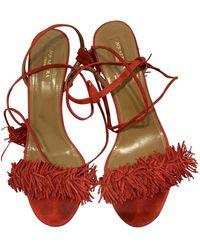 Aquazzura Wild Thing Sandals - Red