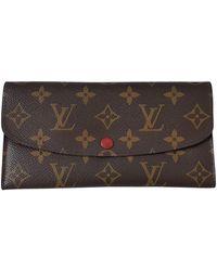 Louis Vuitton Emilie Red Cloth Wallet