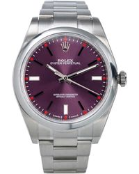 Rolex - Oyster Perpetual 39mm Purple Steel Watches - Lyst