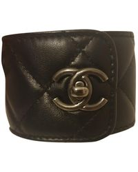 Chanel Leder Armbänder - Schwarz