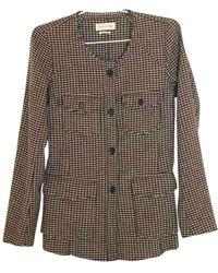 Étoile Isabel Marant Chaqueta en lana marrón