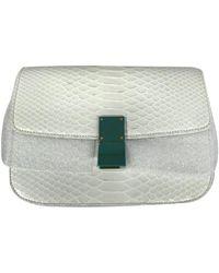 Céline Classic White Python Handbag