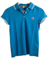 Moncler - \n Turquoise Cotton Top - Lyst