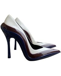 CALVIN KLEIN 205W39NYC Patent Leather Heels - White