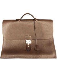 Hermès - Cartable Sac à dépèches en cuir - Lyst