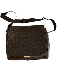 Louis Vuitton Abbesses Messenger Leinen Business tasche - Braun