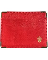 Rolex Leder Kleinlederwaren - Rot