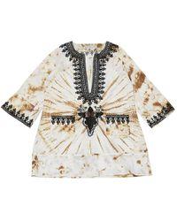Anya Hindmarch - Ecru Cotton Dress - Lyst