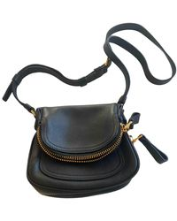 Tom Ford Jennifer Leather Crossbody Bag - Black