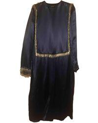 Lanvin Silk Maxi Dress - Blue