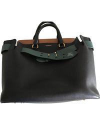 Burberry The Belt Leather Handbag - Black
