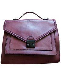 Loeffler Randall Leather Crossbody Bag - Purple