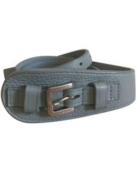 Jil Sander Blue Leather Belts
