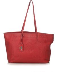Fendi - Burgundy Leather Handbag - Lyst