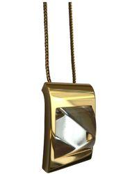 Hermès Collar en cristal dorado - Multicolor