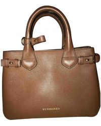 Burberry The Banner Leather Crossbody Bag - Brown