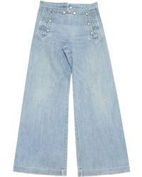 Jean Paul Gaultier - Blue Cotton Jeans - Lyst
