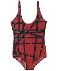 Hermès Red Lycra Swimwear