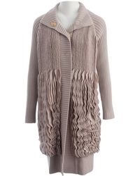 Roberto Cavalli - Beige Wool Jacket - Lyst
