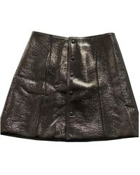 Claudie Pierlot Patent Leather Mini Skirt - Blue