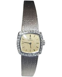 Omega - Pre-owned White Gold Watch - Lyst