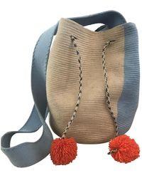 Sophie Anderson Beige Cloth Handbag - Natural