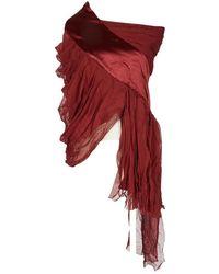 Prabal Gurung Burgundy Silk Skirt - Red