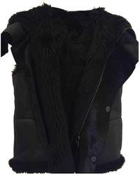 Bottega Veneta Shearling Coat - Black